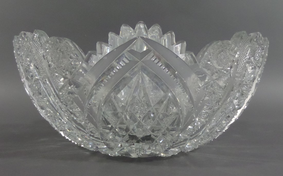"""HAWKES Signed Berry Bowl ABP 9-1/4"""" Cut Glass - 2"""