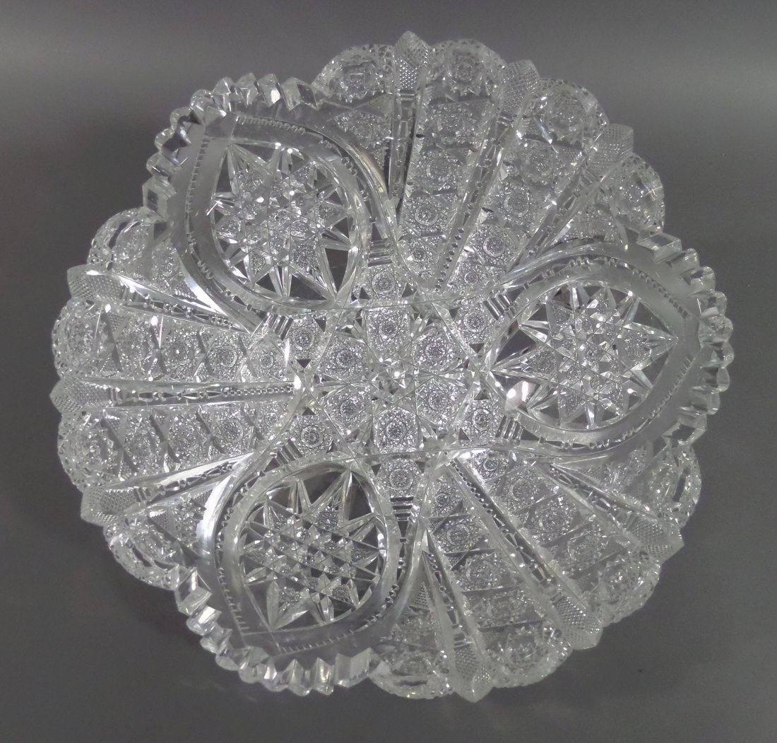 """HAWKES Signed Berry Bowl ABP 9-1/4"""" Cut Glass - 3"""
