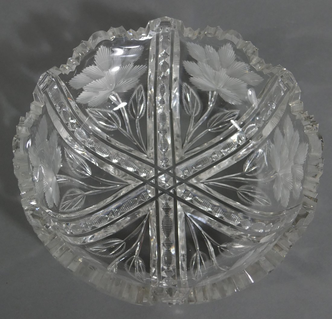 """LIBBEY Signed ABP Cut Glass 8"""" Berry Bowl - 3"""