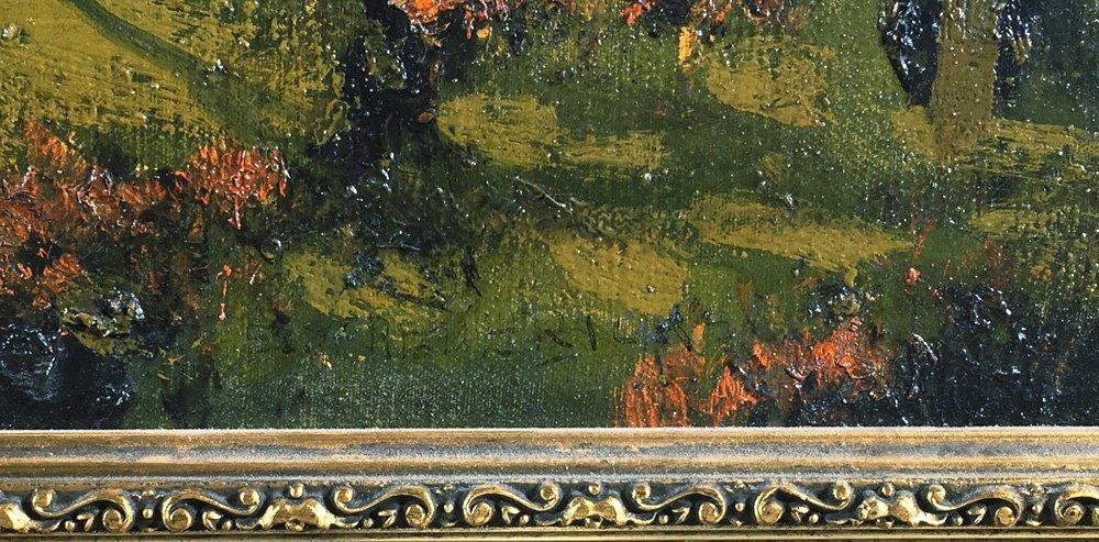 "Oil Painting, ERNEST T FREDERICKS, ""Autumn Woods"" - 3"