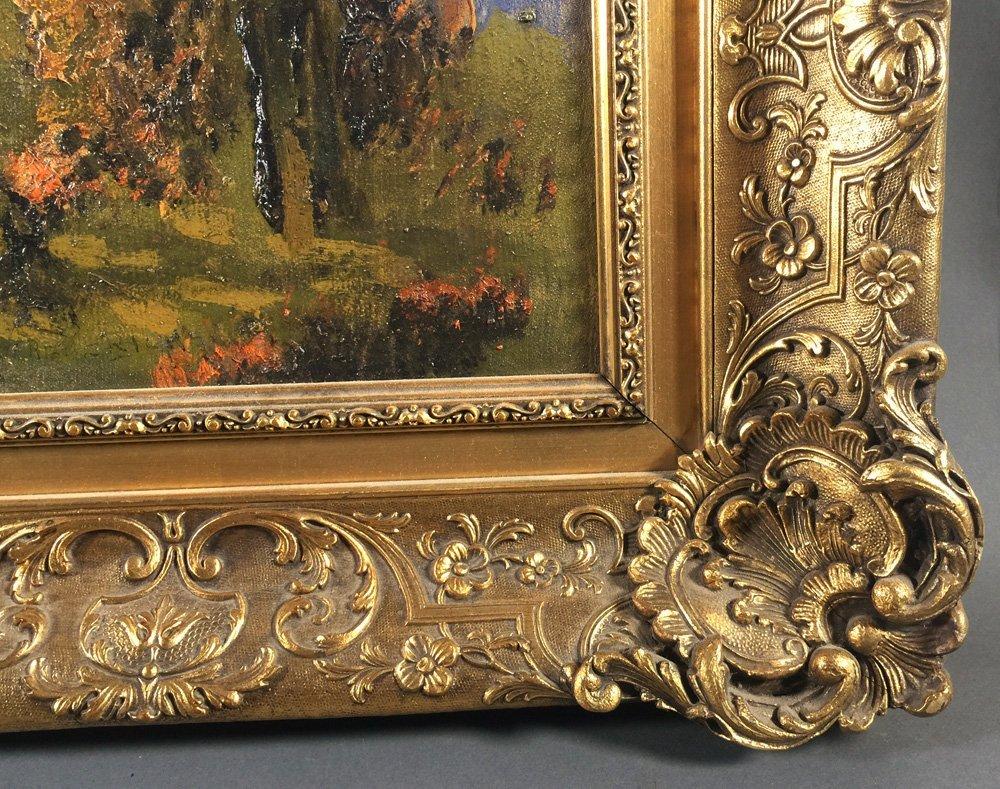 "Oil Painting, ERNEST T FREDERICKS, ""Autumn Woods"" - 4"