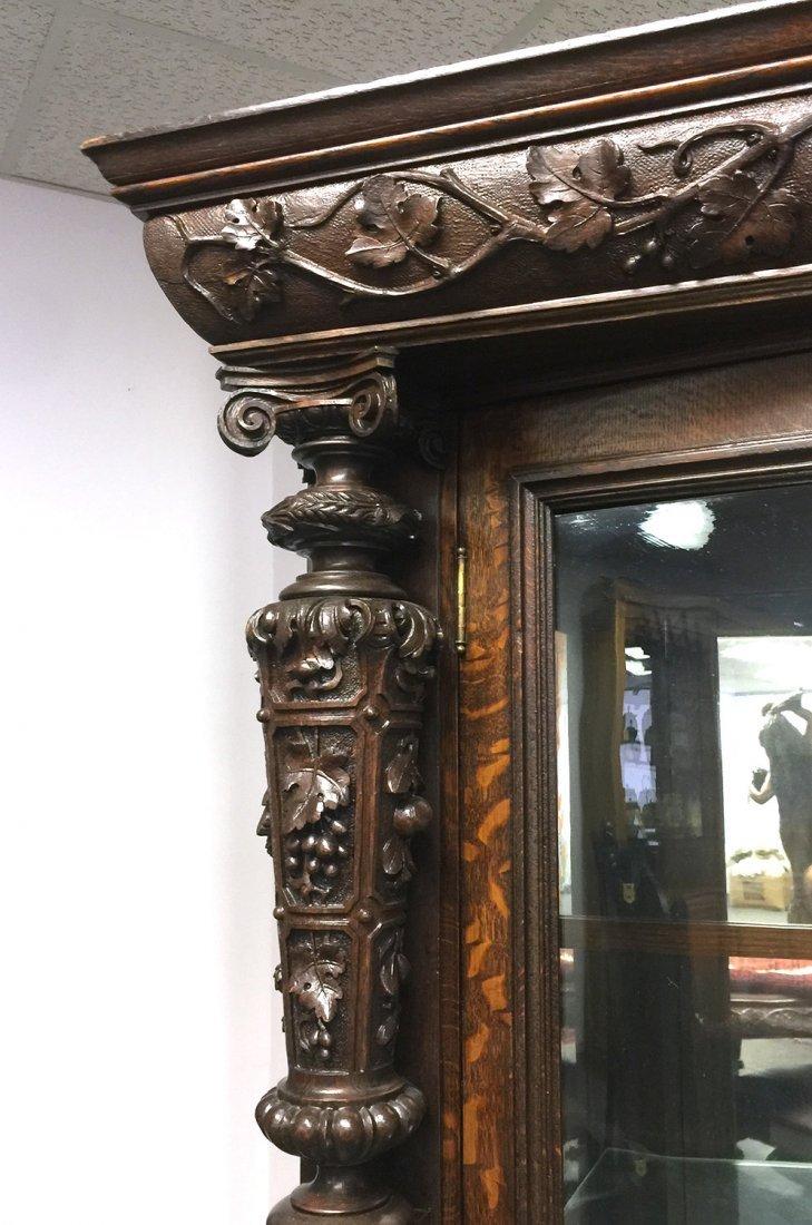 RJ HORNER Carved Two-Door CHINA CABINET - 2