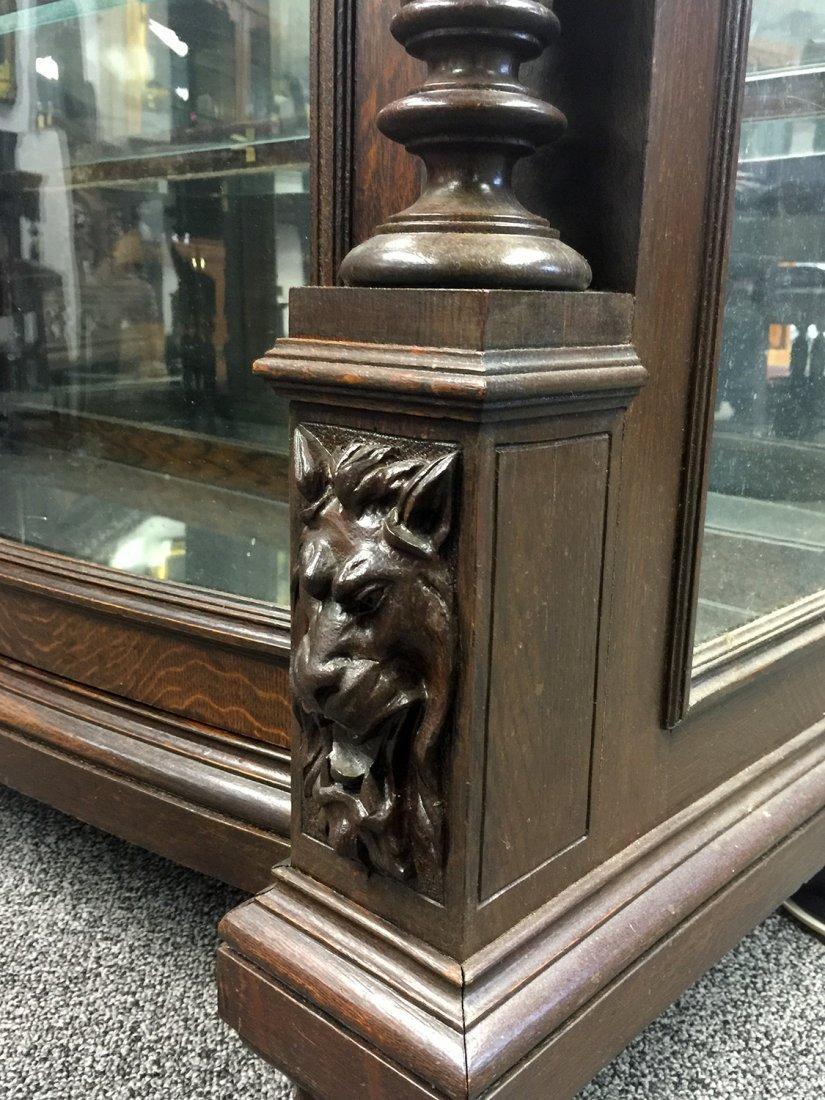 RJ HORNER Carved Two-Door CHINA CABINET - 3