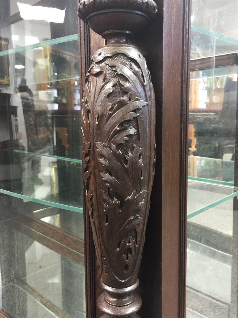 RJ HORNER Carved Two-Door CHINA CABINET - 4