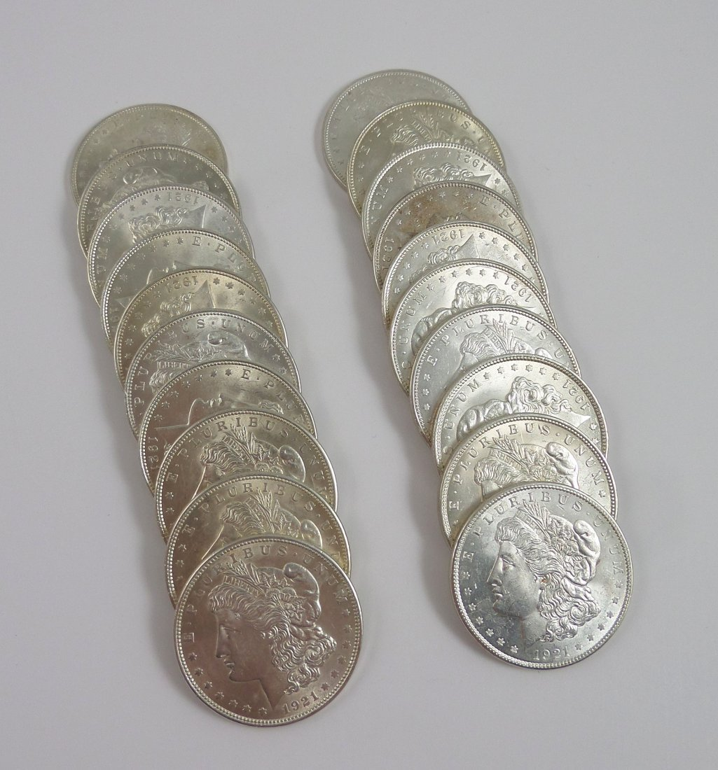 20 Uncirculated MORGAN SILVER DOLLARS