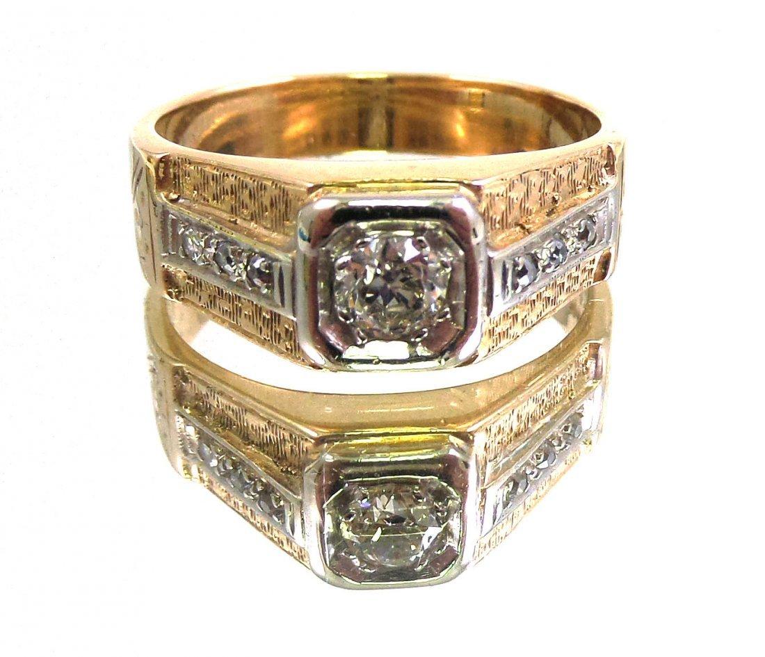 DIAMOND Men's RING 14k Yellow Gold