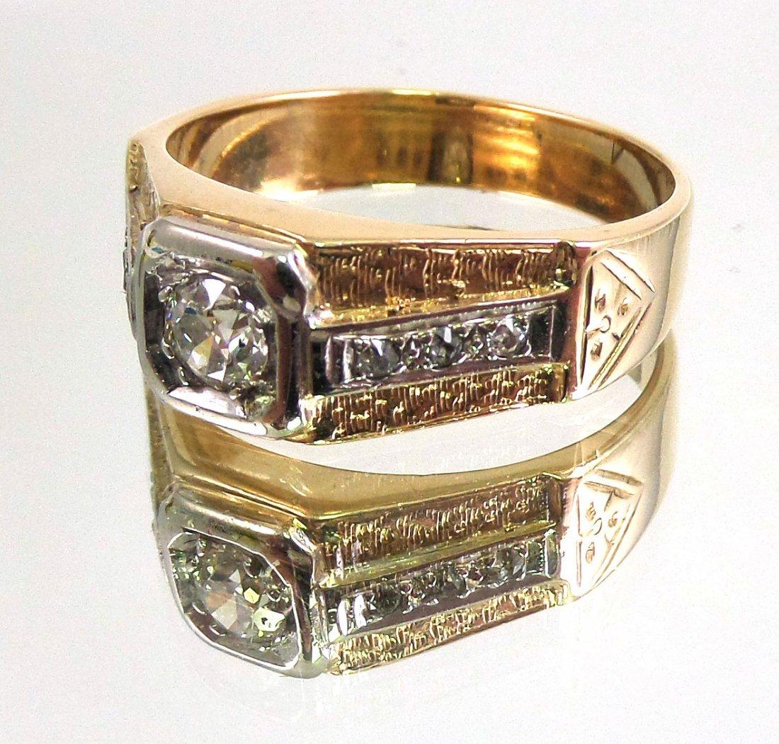 DIAMOND Men's RING 14k Yellow Gold - 2