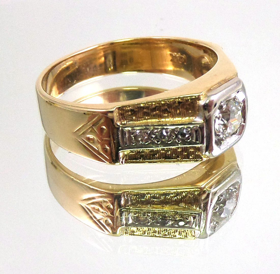 DIAMOND Men's RING 14k Yellow Gold - 3