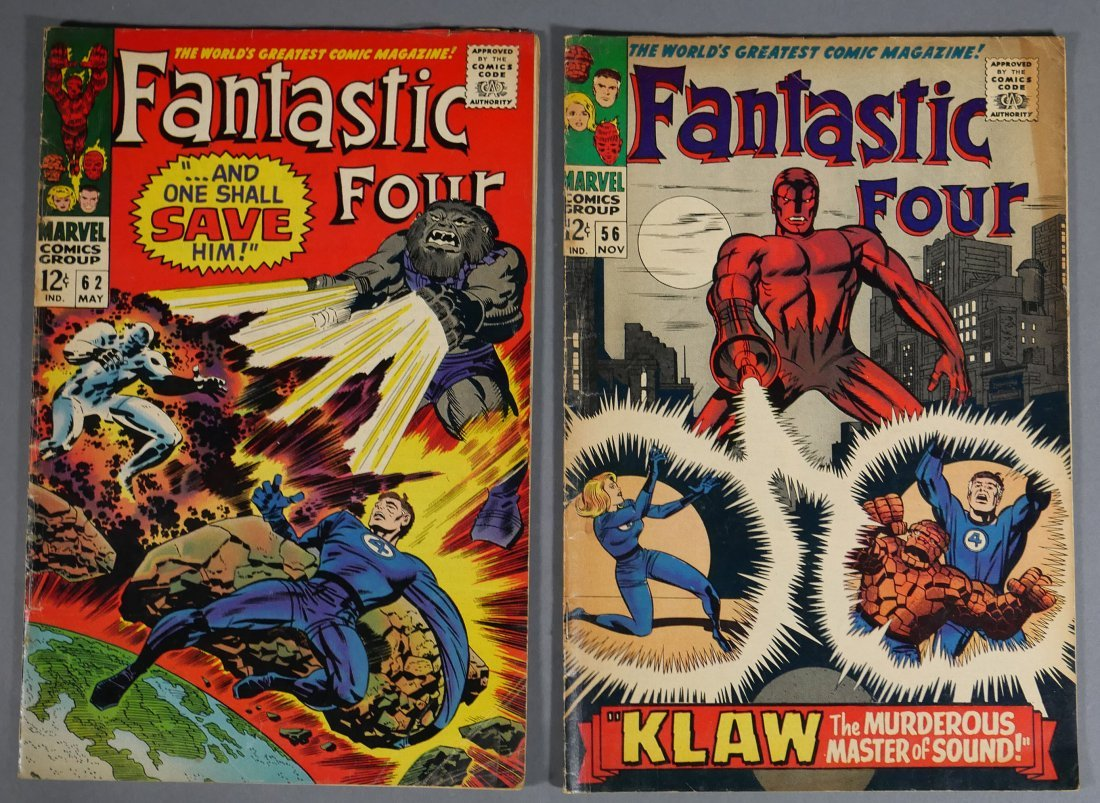4 Marvel FANTASTIC FOUR Comics from 1966-67 - 3