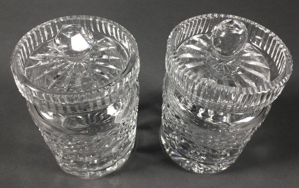 Pair of Waterford Crystal Jam Jars - 2