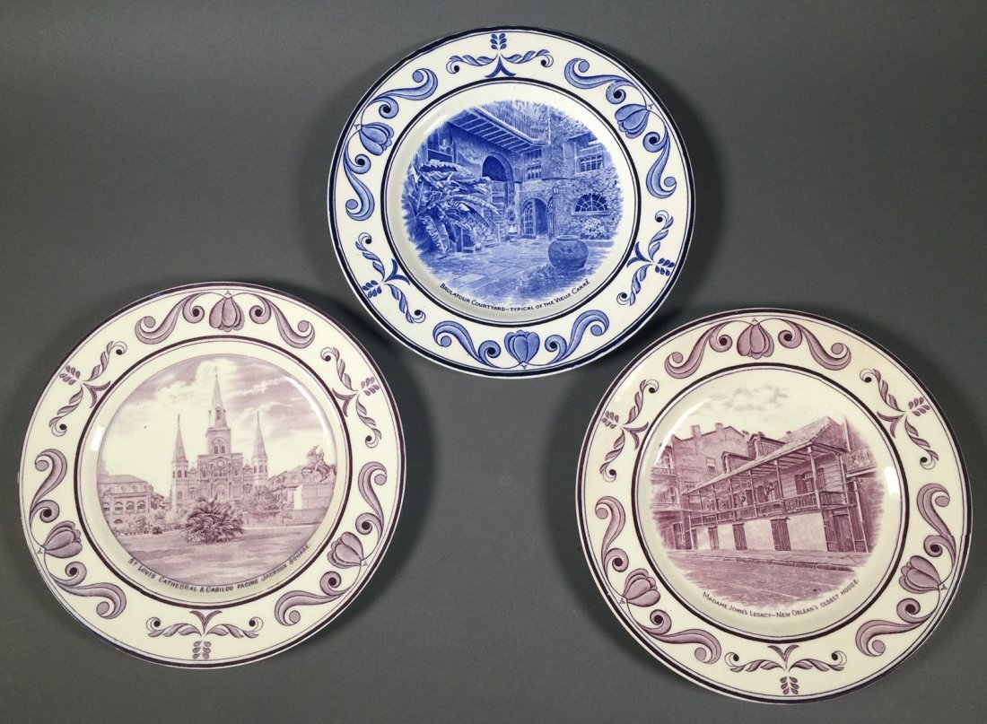 3 Crown Ducal NEW ORLEANS Louisiana Plates