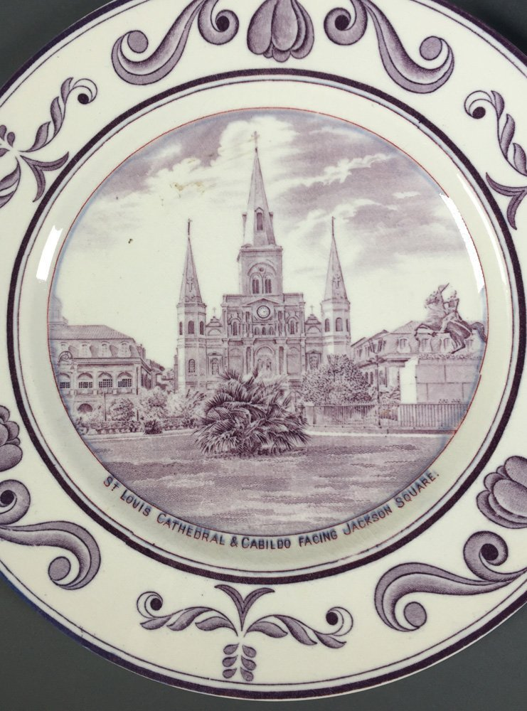 3 Crown Ducal NEW ORLEANS Louisiana Plates - 3