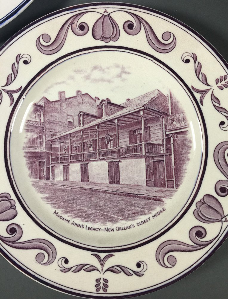 3 Crown Ducal NEW ORLEANS Louisiana Plates - 4