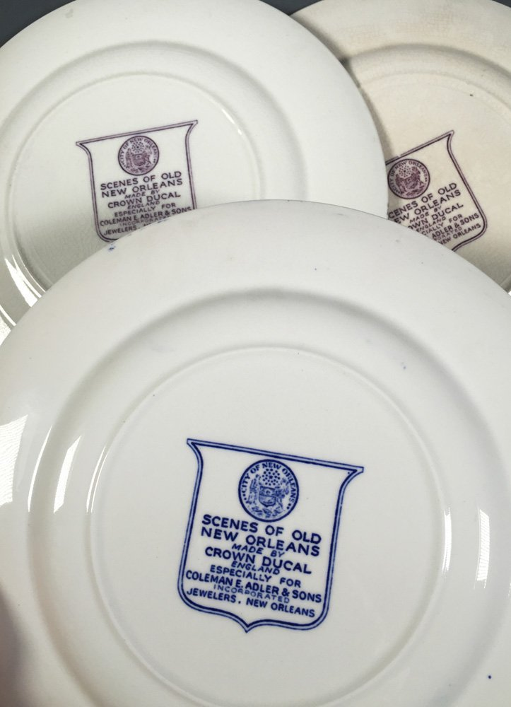 3 Crown Ducal NEW ORLEANS Louisiana Plates - 5