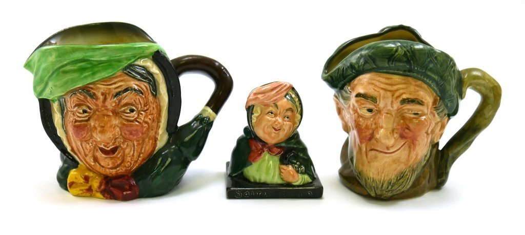 ROYAL DOULTON 2 Toby Jugs and Figurine