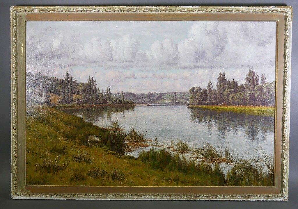 WILLIAM BAIRD French Seine River Landscape