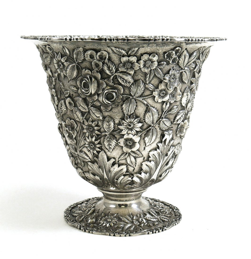 SCHOFIELD Baltimore Rose Ice Bowl Footed Vase