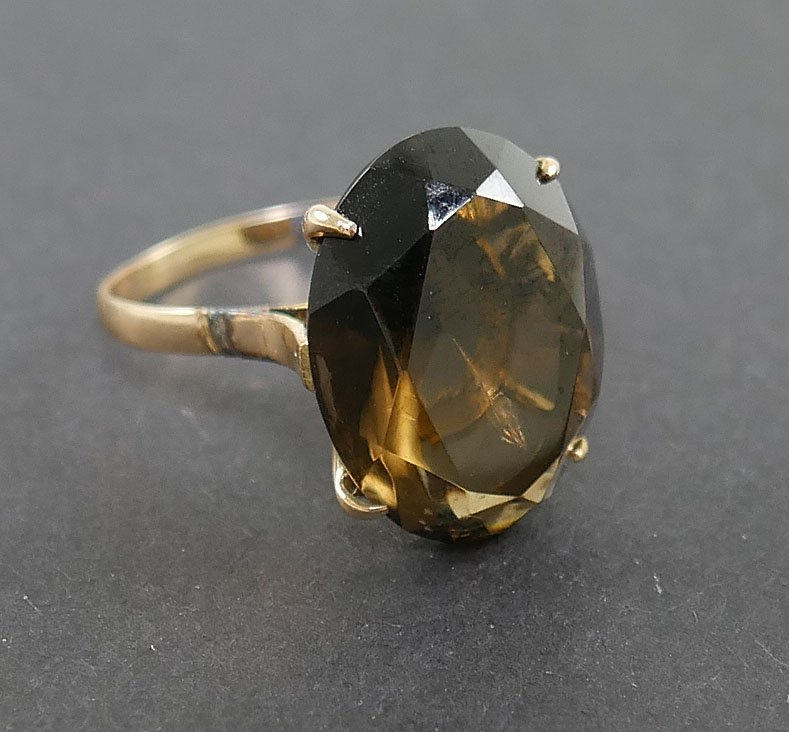 14k Gold SMOKY TOPAZ Ring - 3