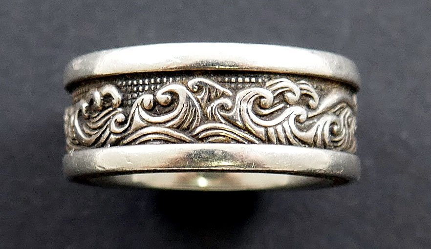 DAVID YURMAN Waves Men's Sterling Silver Ring - 3