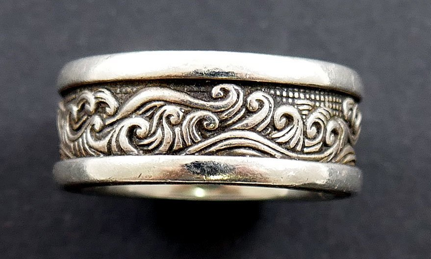DAVID YURMAN Waves Men's Sterling Silver Ring - 4