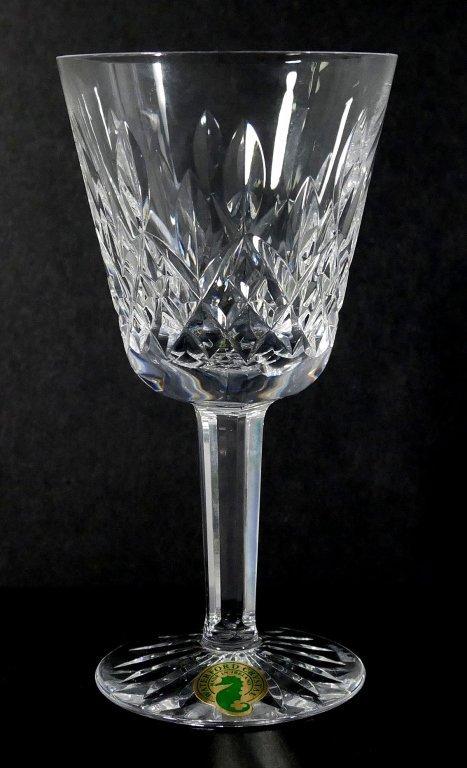 """12 WATERFORD LISMORE Crystal 5-3/4"""" Wine Glasses - 2"""