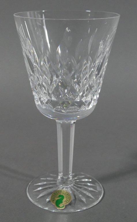 """12 WATERFORD LISMORE Crystal 5-3/4"""" Wine Glasses - 3"""