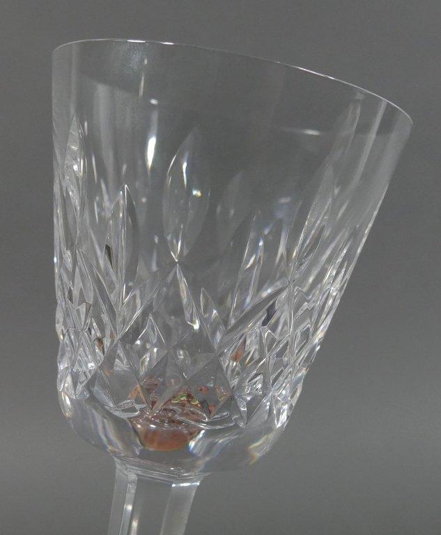 """12 WATERFORD LISMORE Crystal 5-3/4"""" Wine Glasses - 5"""