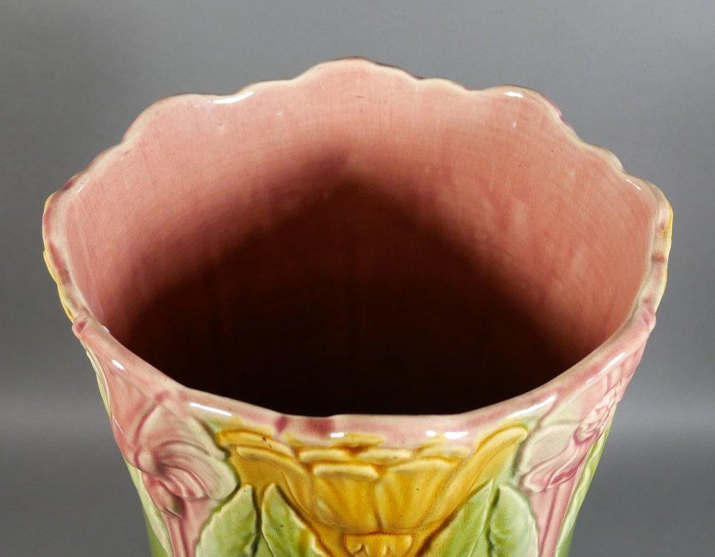 WELLER Art Pottery Floral Umbrella Stand - 3