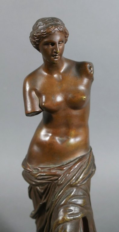 RON COLLAS Venus de Milo Bronze Statue
