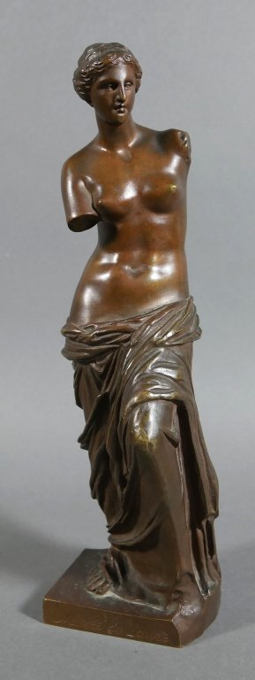 RON COLLAS Venus de Milo Bronze Statue - 2