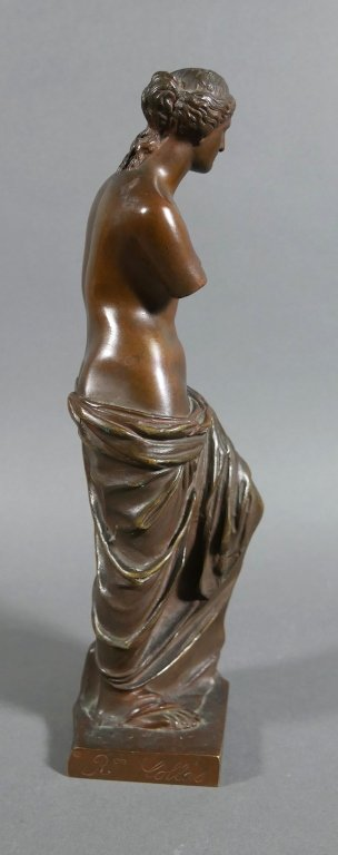 RON COLLAS Venus de Milo Bronze Statue - 3