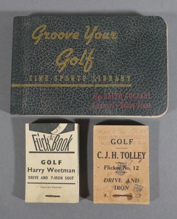 Rare Vintage Golf FLIP BOOKS
