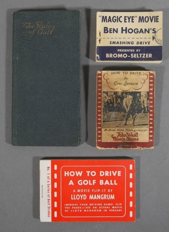 Vintage Golf FLIP BOOKS, 1919 Rules of Golf book