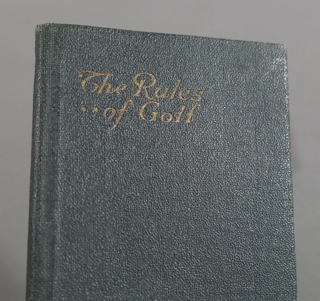 Vintage Golf FLIP BOOKS, 1919 Rules of Golf book - 4