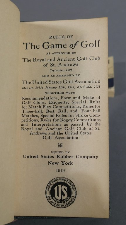Vintage Golf FLIP BOOKS, 1919 Rules of Golf book - 5