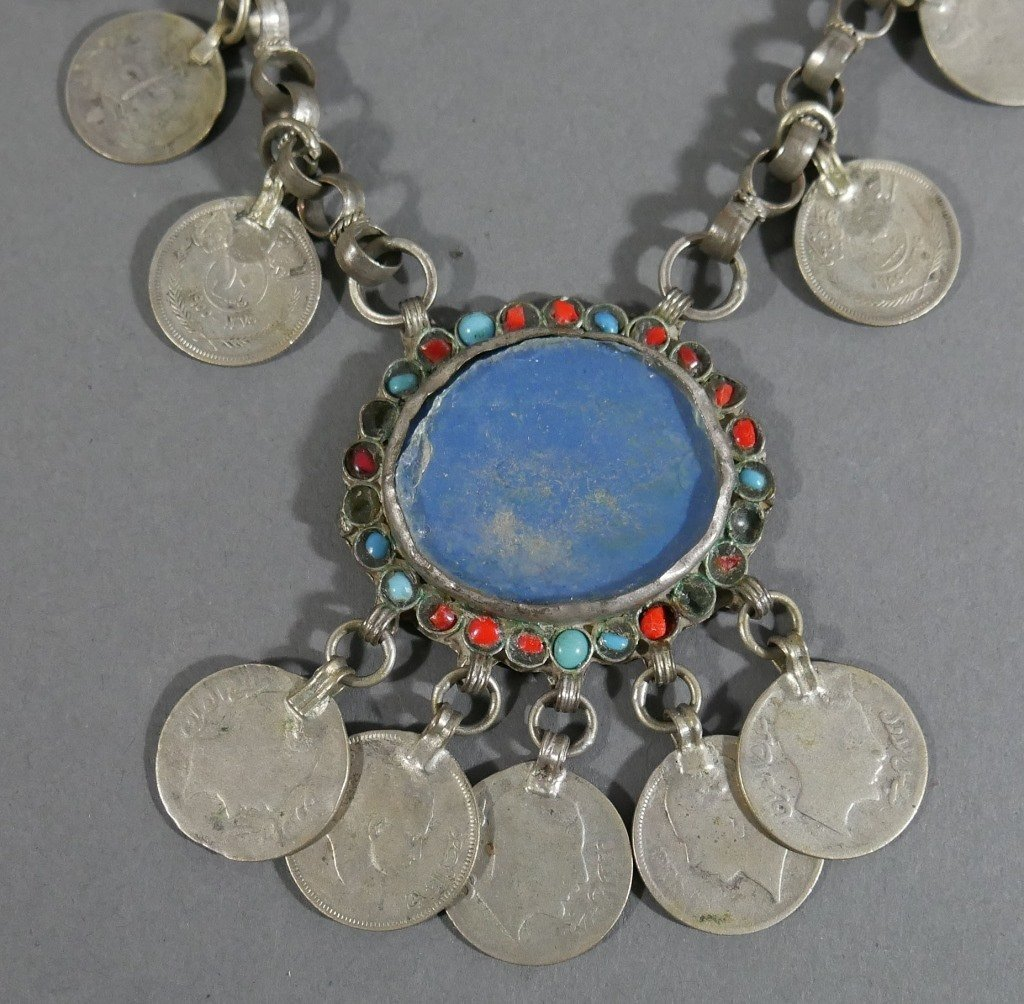 Vintage KURDISH Tribal Jewelry Coin Necklace - 2