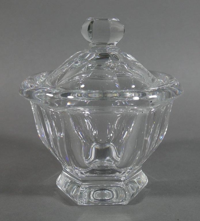 BACCARAT Crystal Lidded Condiment Jam Jar
