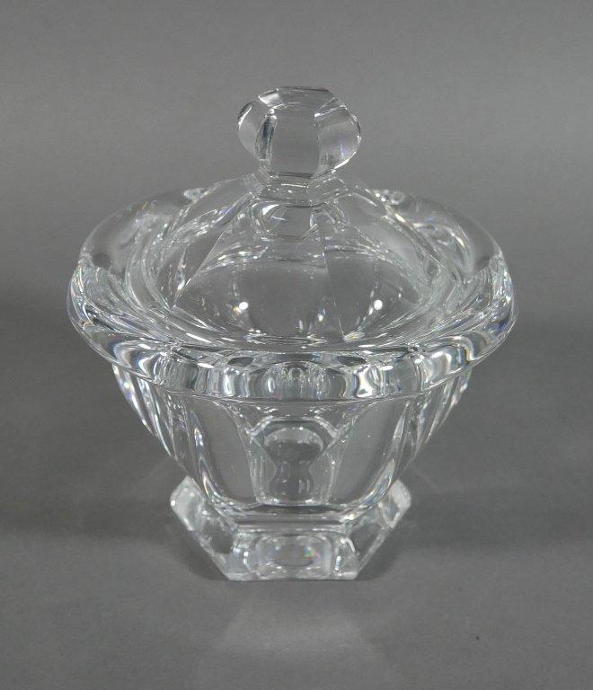 BACCARAT Crystal Lidded Condiment Jam Jar - 2