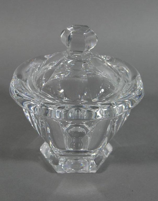BACCARAT Crystal Lidded Condiment Jam Jar - 3