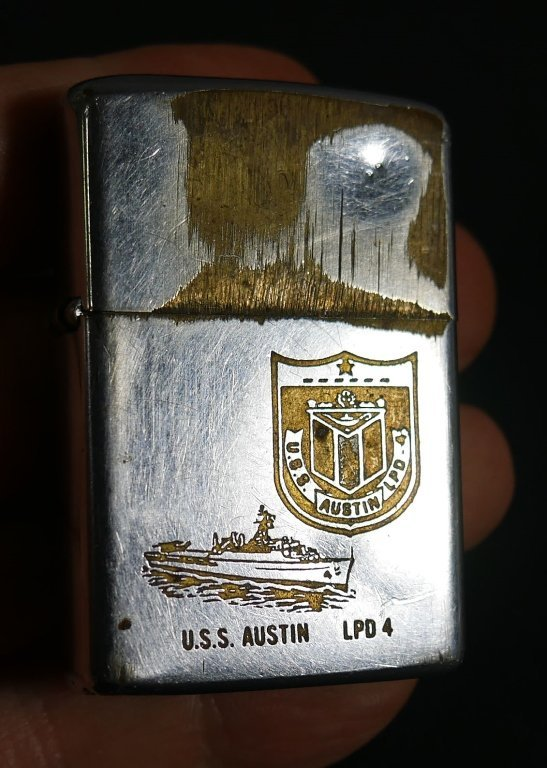 Old Military Pins, Patches and Zippo Lighter - 8
