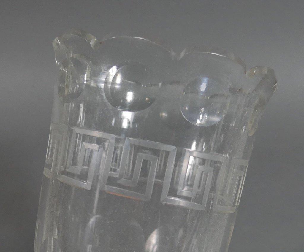 Ornate Victorian Glass & Silver Celery Holder - 5