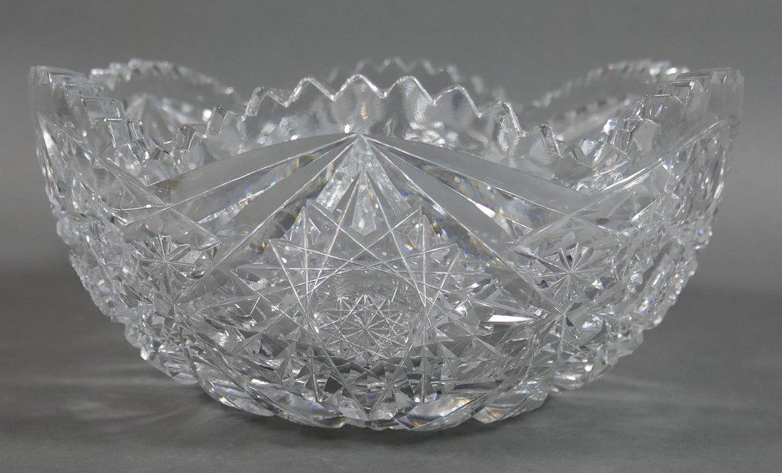 ABP Cut Glass Berry Bowl, Star Diamond