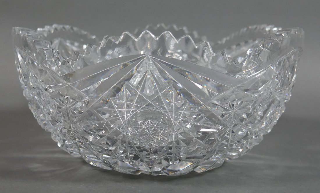 ABP Cut Glass Berry Bowl, Star Diamond