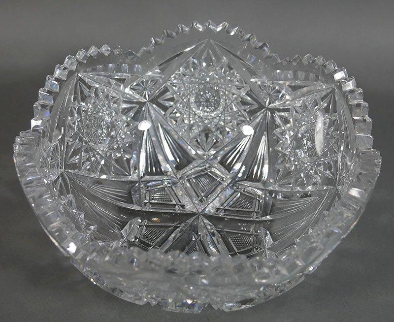 ABP Cut Glass Berry Bowl, Star Diamond - 2