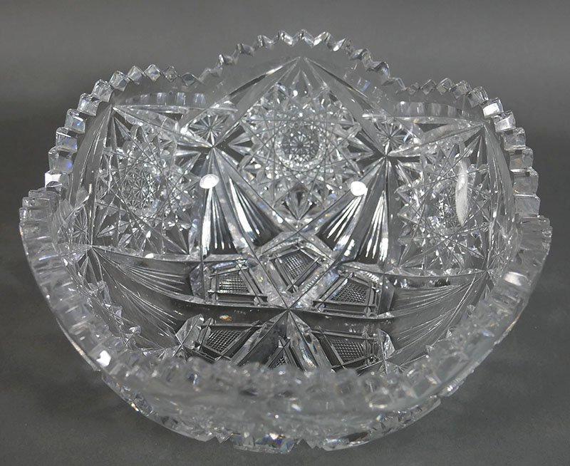 ABP Cut Glass Berry Bowl, Star Diamond - 2