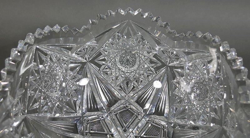 ABP Cut Glass Berry Bowl, Star Diamond - 3