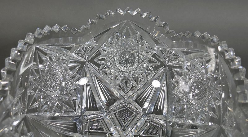 ABP Cut Glass Berry Bowl, Star Diamond - 3