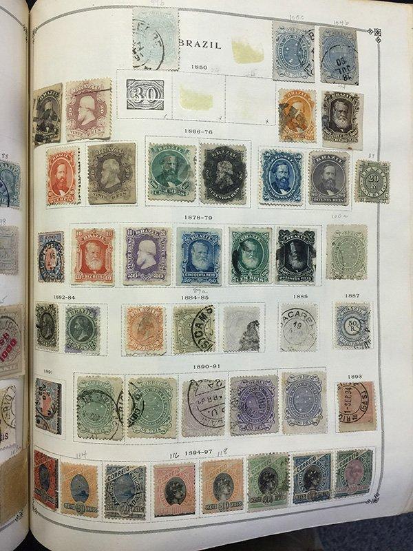 Postage Stamp Album BRAZIL Bolivia Brunei