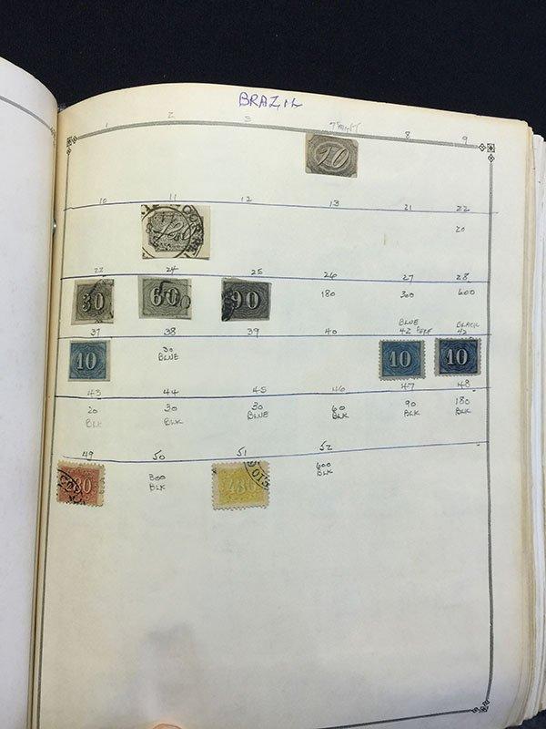 Postage Stamp Album BRAZIL Bolivia Brunei - 3