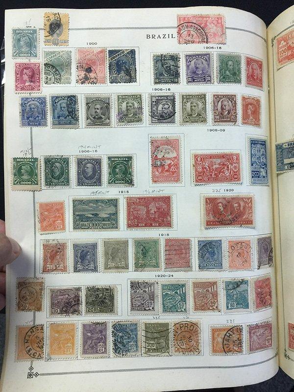 Postage Stamp Album BRAZIL Bolivia Brunei - 5